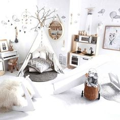 Wow, this room is awesome! My little boy would play for hours in this wonderful decor. I love everything in this kid's bedroom.