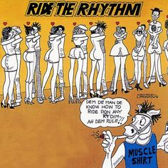 Ride the Rhythm back cover illustration by #Limonious, Top Rank, 1985…