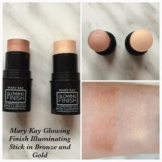 Mary Kay Glowing Finish Illuminating Stick in Bronze and Gold swatch