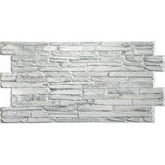 Ekena Millwork Canyon Ridge Stacked Faux Stone Polyurethane Wall Paneling & Reviews | Wayfair Paneling, Vinyl Installation, Stone Panels, Stone Siding, Vinyl Wall Panels, Stone Siding Exterior, Pvc Wall Panels, Faux Stone Panels, Faux Stone