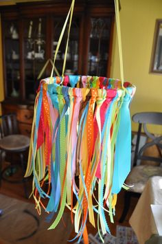 diy ribbon mobile - with tips on how to make