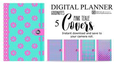 Digital Planner Covers for iPad GoodNotes Pink Teale Planner Covers, Good Notes, Ipad Pro, Printable Planner, Notebooks, Planners, Digital, Handmade Gifts, Pink