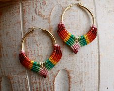 Check out our macrame selection for the very best in unique or custom, handmade pieces from our shops. Macrame Earrings, Tribal Earrings, Macrame Jewelry, Turquoise Earrings, Etsy Earrings, Beaded Bracelets, Paper Quilling Jewelry, Micro Macramé, Funky Jewelry