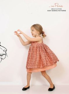 Kikoi easy PDF patterns for girls toddlers and babies: Nohara dress ... coming soon!