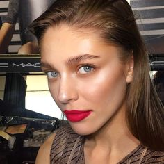 The #divine @sarbaevalera today. #mymakeup at @tlvfashionmall runway. Thelook featuring the #new #Baiana #bronze from the #fruityjuicy #summee collection on cheeks and #eyes, #creamcolorbase in #luna and #Pearl and on #lips #cherry lipliner with #relentlesslyred #lipstick. Hair by @yosefhaviv @mottyreif @mazalhason #MACCosmetics #MAC #MacMakeup #MakeupArtist #Makeup #Beauty #MACSeniorArtist #Love #MakeupAddict #MACAddict #MUA #fashion #redlips #glow #highlights