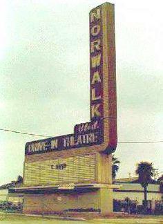 Vintage Norwalk Drive-In Theatre Norwalk California, Whittier California, Drive Inn Movies, Drive In Movie Theater, San Luis Obispo County, Outdoor Theater, Los Angeles Area, Roadside Attractions, Old Buildings