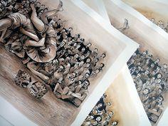 "Franco Fasoli aka JAZ ""Observadores"" StreetArtNews Print Available July Street Art News, Street Artists, Graffiti, Artists, Graffiti Artwork, Street Art Graffiti"