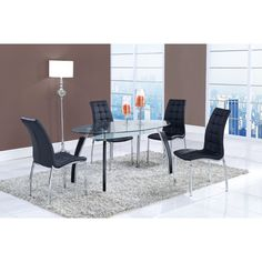 Oval Glass Dining Table and Storage Shelf   Overstock.com Shopping - The Best Deals on Dining Tables
