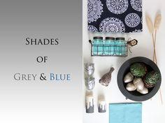 Shades of Grey & Blue #shades #grau #blau #spring #frühling #Tischläufer #tafelfein #grey #blue #seaside #tafelfein #dekoration