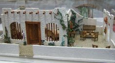 Miniatures Monday: Show Seen 2 - More Dollhouse Show Rooms and Houses Diy Dollhouse, Dollhouse Miniatures, Dollhouse Design, Miniature Crafts, Miniature Houses, Fontanini Nativity, Mexican Christmas, Mexican Crafts, Minecraft Architecture