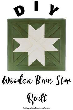 Wooden barn star quilts are traditionally displayed on the side of barns but they can be used as part of your farmhouse decor. It's easy to create your own! Wooden Barn, Wooden Diy, Decor Crafts, Diy Home Decor, Home Decor Catalogs, Star Quilts, Diy Party Decorations, Diy Projects, Crafty
