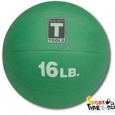 Медицинский мяч 16LB 7.3KG GREEN - 1308