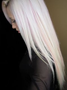 Pink and violet highlights in white platinum blonde hair photo by. Hair Highlights And Lowlights, Blonde Hair With Pink Highlights, Violet Highlights, Brown Blonde, Pink Blonde Hair, Baby Pink Hair, Platinum Blonde Hair, Cool Hair Color, Hair Colors