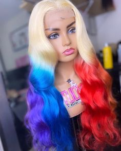 Colored Weave Hairstyles, Cute Weave Hairstyles, Braided Hairstyles For Black Women Cornrows, Gothic Hairstyles, Baddie Hairstyles, Black Girls Hairstyles, Pretty Hairstyles, Wig Styles, Curly Hair Styles