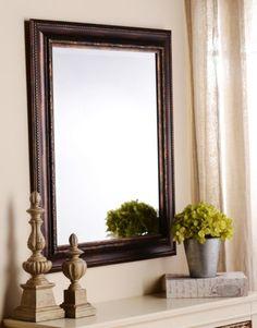 Ornate Tortoise Framed Mirror, 29x35 | Kirklands. Powder bathroom