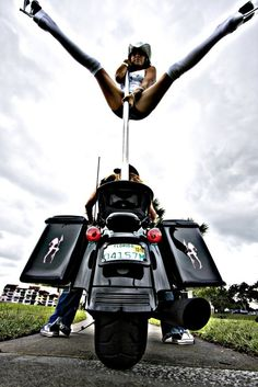 Bikers Xtreme pole dancing to extreme