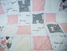 Image of Sleepy Love Raggy Rag Quilt, Quilts, Keepsake Quilting, Sewing Projects, Blanket, Baby, Handmade, Image, Hand Made