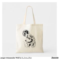 junger träumender Wolf Tragetasche Otter Box, Wolf, Reusable Tote Bags, Wolves, Map Invitation, Carry Bag, Business Cards, Clothing Accessories, Guys