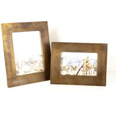 Molten Brass Frames ($50) ❤ liked on Polyvore featuring home, home decor, frames, picture frames, distressed picture frames, brass picture frames, weathered frames, 8x10 frames and 5x7 frames