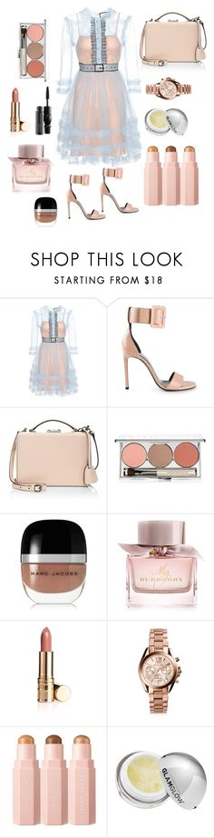 """""""Dressed well for church #6"""" by andiswas ❤ liked on Polyvore featuring Gucci, Yves Saint Laurent, Mark Cross, Chantecaille, Marc Jacobs, Burberry, Michael Kors, GlamGlow and MAC Cosmetics"""