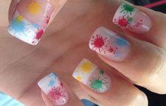 Diseños de uñas juveniles de moda, disenos uñas juveniles con gotas. Clic Follow, Join to CLUB! #diseñouñas #nails #uñasfinas