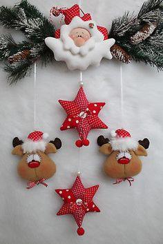 Gingerbread Christmas Decor, Felt Christmas Decorations, Felt Christmas Ornaments, Noel Christmas, Christmas Themes, Christmas Gifts, Santa Crafts, Christmas Crafts To Make, Christmas Sewing