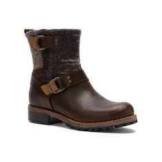 Woolrich Baltimore Ankle Boot featuring polyvore, fashion, shoes, boots, ankle booties, salt marsh, short boots, woolrich boots, real leather boots, slip on boots and pull on boots