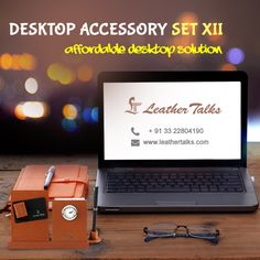 Surround yourself with a desktop accessory set that tells the world something about you. Like a fine crafted time piece, the look of  Desktop Accessory Set XII will set you apart from the others.  #watch #penstand #notestand http://leathertalks.com/product/desktop-accessory-set-xii/
