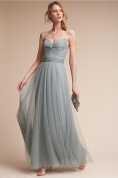 Blue Gray!  BHLDN Tinsley Dress in  Bridal Party Bridesmaid Dresses Long | BHLDN