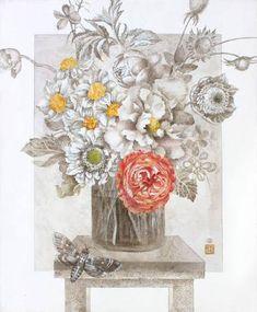 Stil life with butterfly Acryl, Canvas; Original Art, Original Paintings, Butterfly Painting, Figurative Art, Still Life, Buy Art, Saatchi Art, Canvas Art, Tapestry