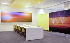 Philips luminous textile combining Philips lights and Kvadrat Soft Cells