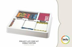 I'm done with traditional scrapbooking, bring on the simplicity! Project Life Core Kit - Cobalt Edition: Arts, Crafts & Sewing