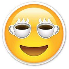 I love coffee emoji Coffee Is Life, I Love Coffee, Coffee Art, My Coffee, Coffee Shop, Smiley Emoticon, Emoticon Faces, Happy Emoticon, Smiley Faces