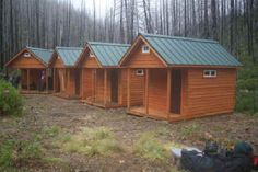 small hunting cabins   Oregon TimberWerks - Camping Cabin Kits