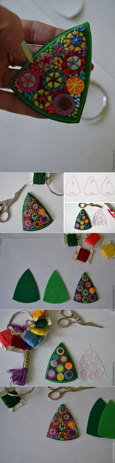Делаем яркую фетровую брошку - Ярмарка Мастеров - ручная работа, handmade