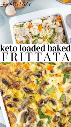 Everything but the fridge Baked Frittata here. Use up all those ingredients sitting in the fridge and let's meal-prep for the week in low carb style Low Calorie Recipes, Keto Recipes, Vegetarian Recipes, Cooking Recipes, Healthy Recipes, Delicious Recipes, Diabetic Recipes, Healthy Food, Dessert Recipes