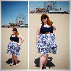 Outfit of the day - FFFWeek edition While we were in New York for FFFWeek, we decided to spend a day at Coney Island beach. This Addition Elle dress was the perfect outfit for this day on the...
