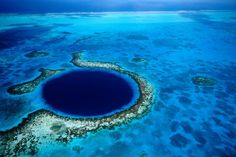 The Great Blue Hole in Belize - photo from twistedsifter; Roughly feet across and 400 feet deep, the Great Blue Hole is an underwater sinkhole about 62 miles off the coast of Belize in the Lighthouse Reef. Beautiful Places In The World, Places Around The World, Oh The Places You'll Go, Places To Travel, Places To Visit, Around The Worlds, Amazing Places, Travel Destinations, Amazing Destinations