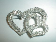 sparkling vintage sp prong set clear crystals by fadedglitter42263, $48.00