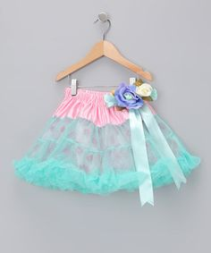 Take a look at this Pink & Blue Bouquet Pettiskirt by Blow-Out on #zulily #fall today!