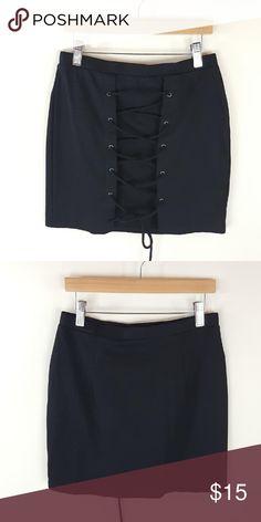 Lace up mini skirt Lace up black mini skirt 95% polyester 5% spandex Skirts Mini