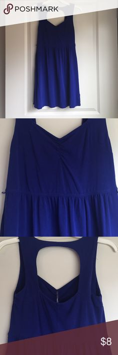 Royal blue summer dress This is a cotton dress that is tight at the top. It's great for summer and has loop holes to pair with a belt Forever 21 Dresses Mini
