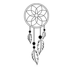 Images of dream catcher svg - Dream Catcher Drawing, Dream Catcher Tattoo Design, Simple Dream Catcher Tattoo, Dream Catcher Canvas, Dream Catcher Painting, Dream Catchers, Mandala Art Lesson, Mandala Drawing, Pencil Art Drawings