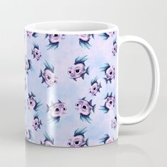 Fish Coffee Mug by chaploart | Society6