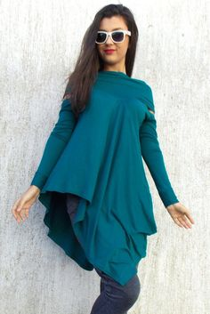 Just in: Flared Teal Viscose Tunic / Plus Size Asymmetrical Flared Tunic TT38 https://www.etsy.com/listing/215246058/flared-teal-viscose-tunic-plus-size?utm_campaign=crowdfire&utm_content=crowdfire&utm_medium=social&utm_source=pinterest