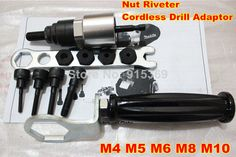 Find More Electric Drill Information about M4 M10 Rivet Nut Adaptor Cordless Drill Adaptor Riveting Tools,High Quality Electric Drill from  Joes Hardware & Machining on Aliexpress.com