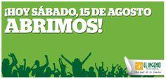 Hoy estamos seguro de que será un gran día!   Hoy toca disfrutar en #ElIngenio! Hoy ABRIMOS!