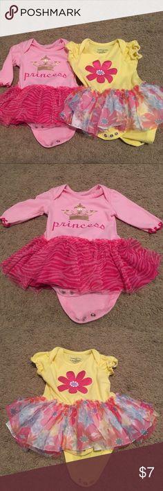 Baby girl tutu onesies Princess onesie- 0-3M Flower onesie- 3-6M One Pieces Bodysuits