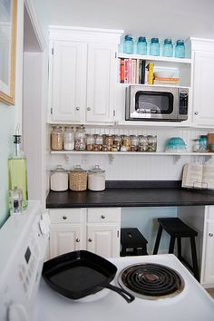 the shelf below the cabinet is awesome.  maybe this can be done on the right of my stove.