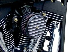 Joker Machine - High-Performance Black Finned Air Cleaner fits Harley '01-'16 EFI, '99-'06 CV Carb (see guide)